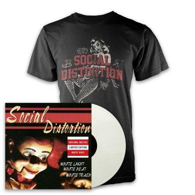 social-distortion - White Light LP (White) + White Light Icon T-Shirt (Black)