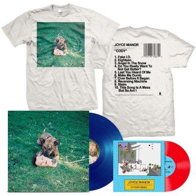 "joyce-manor - Cody LP (Blue) + 2/15/09 Demos 7"" + Album T-Shirt Bundle"