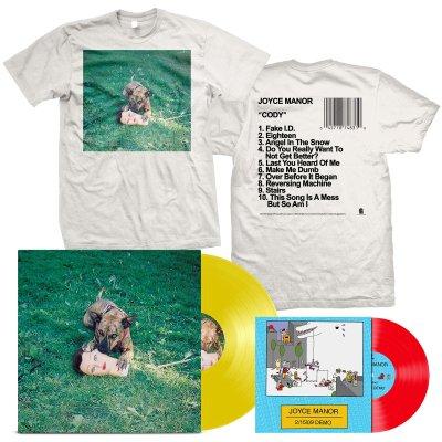 "joyce-manor - Cody LP (Yellow) + 2/15/09 Demos 7"" + Album T-Shirt Bundle"