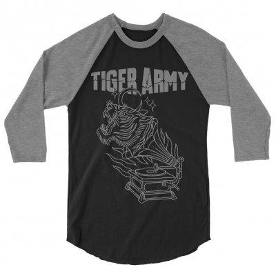 tiger-army - Gramophone Raglan (Heather/Black)