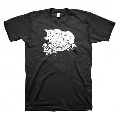 John K Samson - Vivat Virtute (White Cat) T-Shirt (Black)