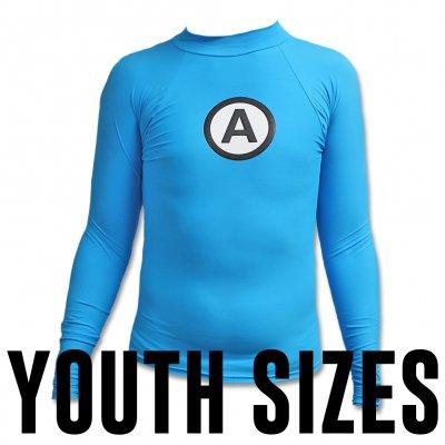 the-aquabats - Logo Rash Guard Youth - Blue