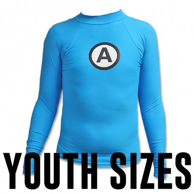 Logo Rash Guard Youth - Blue
