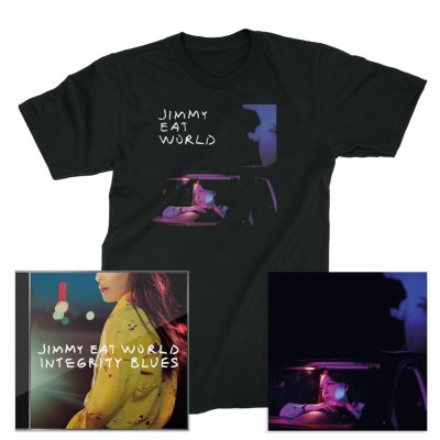Jimmy Eat World - Integrity Blues CD + Signed Litho + Get Right T-Shirt (Black)
