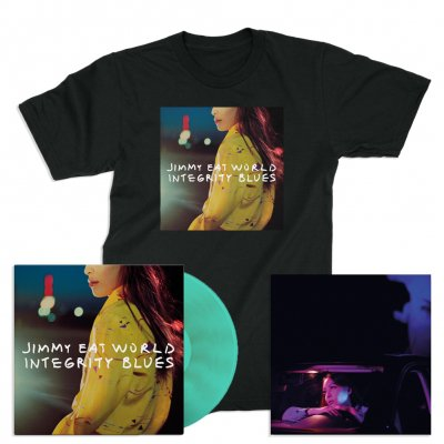 jimmy-eat-world - Integrity Blues LP (Turquoise) + Signed Litho + Cover T-Shirt (Black)