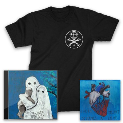 Frank Iero And The Patience - Parachutes CD + Heart Giclee + Parachute T-Shirt (Black)