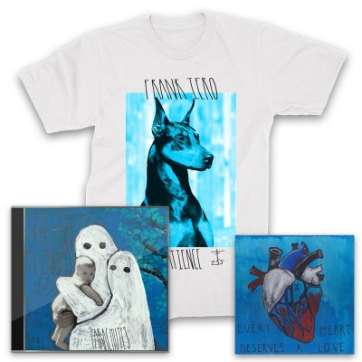 Frank Iero And The Patience - Parachutes CD + Heart Giclee + Doberman T-Shirt (White)