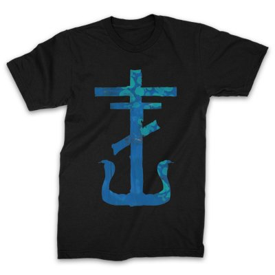 frank-iero - Blue Cross T-Shirt (Black)
