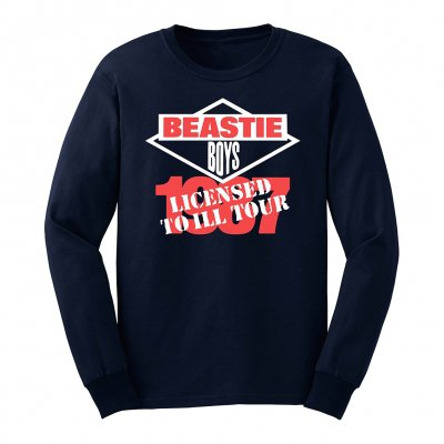 beastie-boys - Licensed To Ill 1987 Tour Long Sleeved Tee (Navy)
