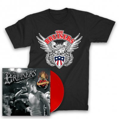 bruisers - Up In Flames LP (Red) + Eagle T-Shirt (Black)