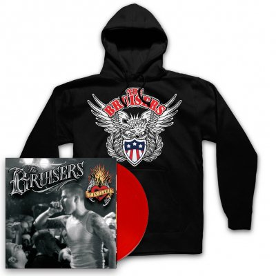 bruisers - Up In Flames LP (Red) + Eagle Pullover (Black)