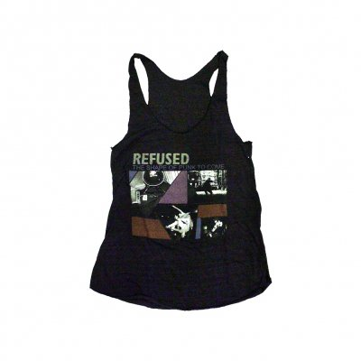 refused - Shape Of Punk To Come Women's Racerback (Black)