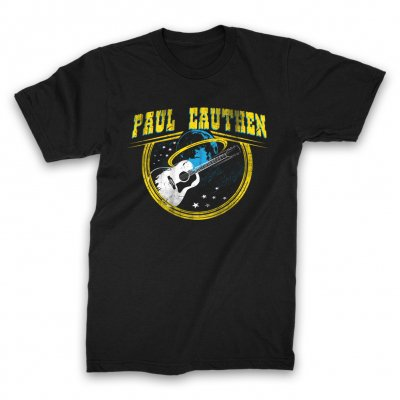 Paul Cauthen - Space Guitar T-Shirt (Black)