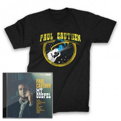 paul-cauthen - My Gospel CD + Space Guitar T-Shirt (Black)