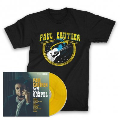 paul-cauthen - My Gospel LP (Yellow) + Space Guitar T-Shirt (Black)