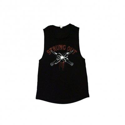 strung-out - Women's Blackheart Muscle Tank (Black)