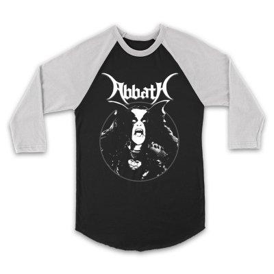 abbath - Classic Raglan (White/Black)