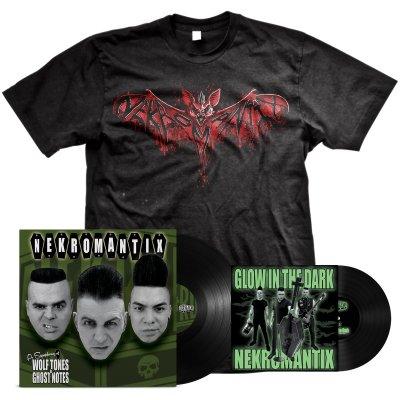 "hellcat-records - A Symphony... LP (Black) + Glow In The Dark 7"" + Bat Tee Bundle"