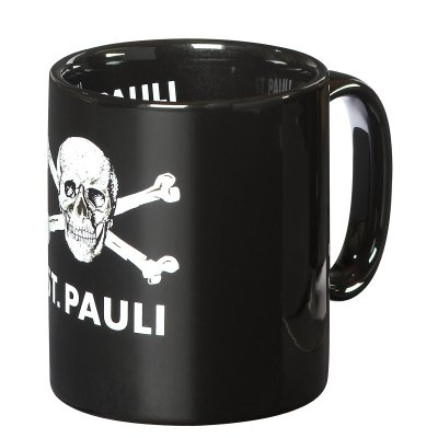 St. Pauli Skull Coffee Mug (Black)