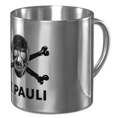 FC St Pauli - St Pauli Skull Stainless Steel Coffee Cup (15oz)