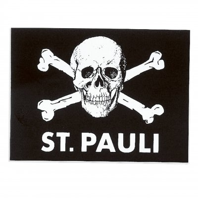St. Pauli Skull Sticker (4.5