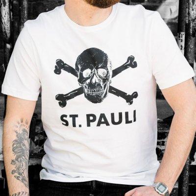 St. Pauli Skull Tee (white)