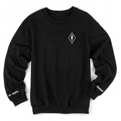 Youth Code - Embroidered Crew Neck (Black)