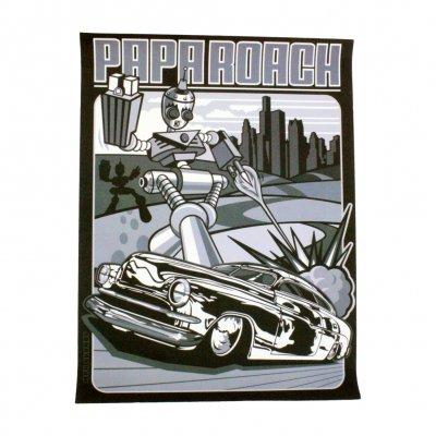 papa-roach - Robot Bomber Car Print