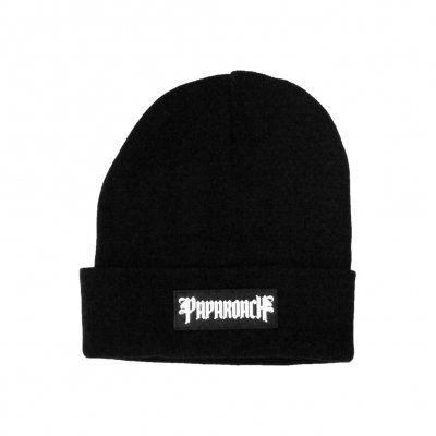 papa-roach - Papa Roach Leather Patch Beanie