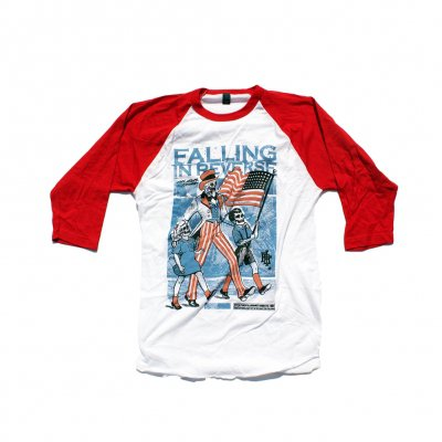 falling-in-reverse - Parental Guidance Raglan (Wht/Red)