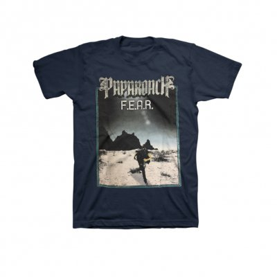 papa-roach - On The Run Navy Tee