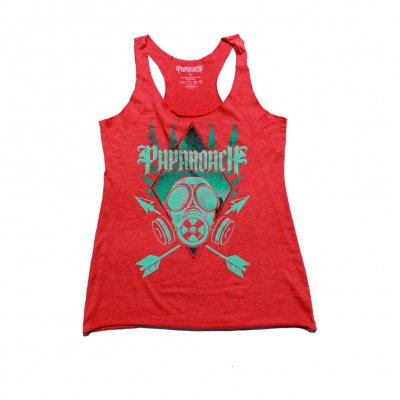 papa-roach - Ladies Gas Mask Tank (Red)