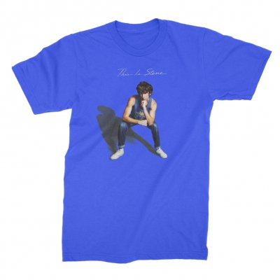 anti-records - This Is Steve Album Cover T-Shirt (Blue)