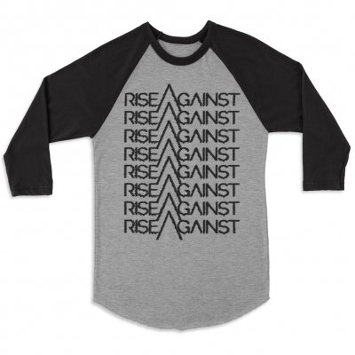 Rise Against - Future Raglan (Heather Body/Black Sleeves)