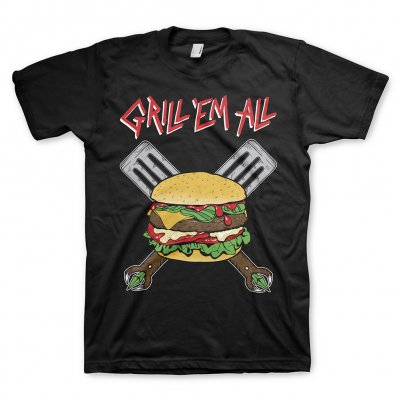 grill-em-all - Burger Logo Tee