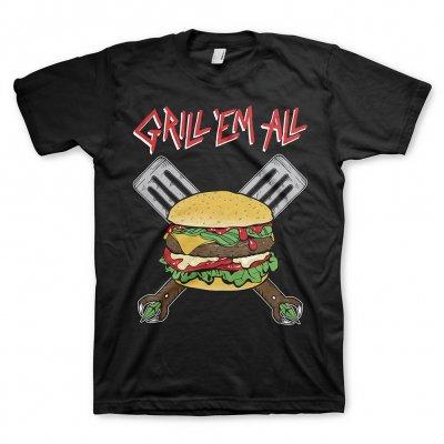 Grill Em All - Burger Logo Tee