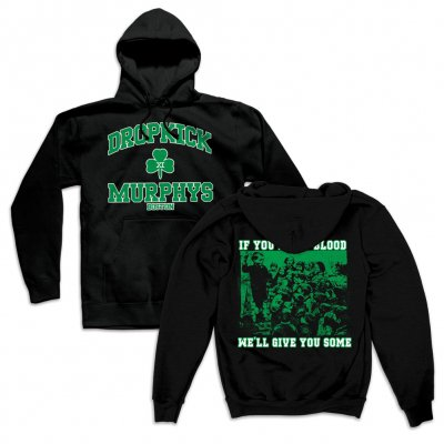 dropkick-murphys - Short Stories Youth Crew Pullover Hoodie (Black)