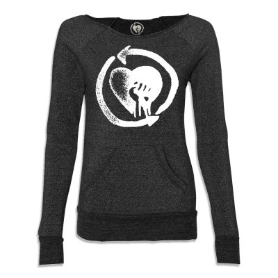 rise-against - HeartFist Womens Maniac Sweater (Black)