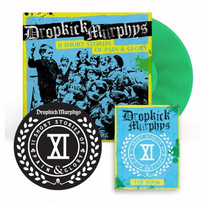dropkick-murphys - 11 Short Stories Of Pain And Glory Deluxe LP (Green) Bundle