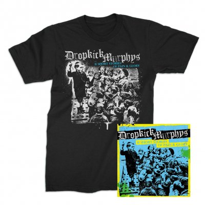 dropkick-murphys - 11 Short Stories Of Pain And Glory CD & Album T-Shirt (Black) Bundle