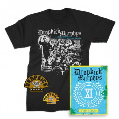 Dropkick Murphys - 11 Short Stories Of Pain And Glory Deluxe CD & Album T-Shirt (Black) Bundle