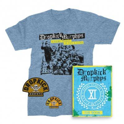 dropkick-murphys - 11 Short Stories Of Pain And Glory Deluxe CD & Album T-Shirt (Blue) Bundle