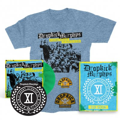 IMAGE | 11 Short Stories Of Pain And Glory Deluxe LP (Green) & Album T-Shirt (Blue) Bundle