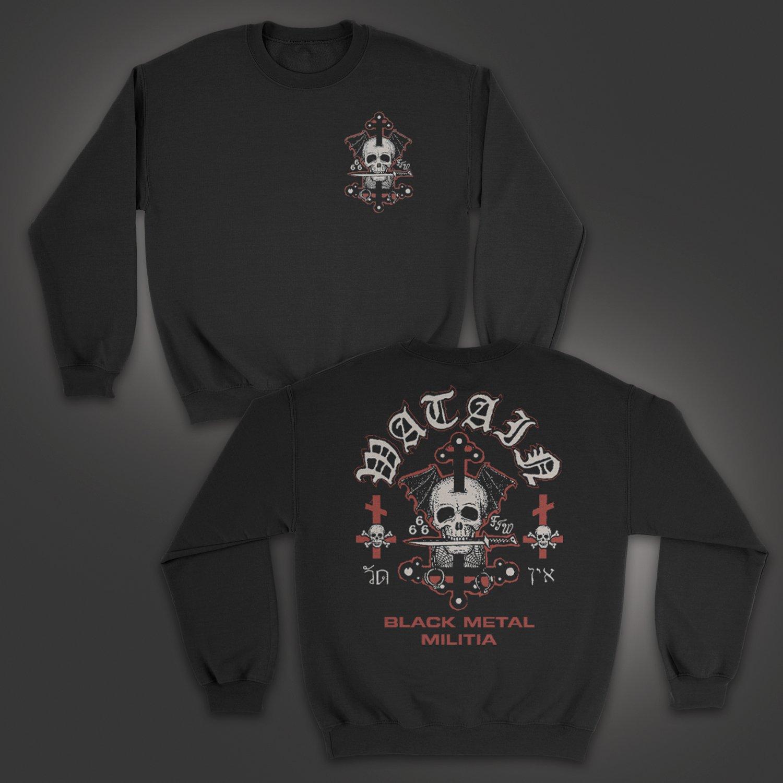 IMAGE | Death's Head Crew Neck Sweatshirt (Black)