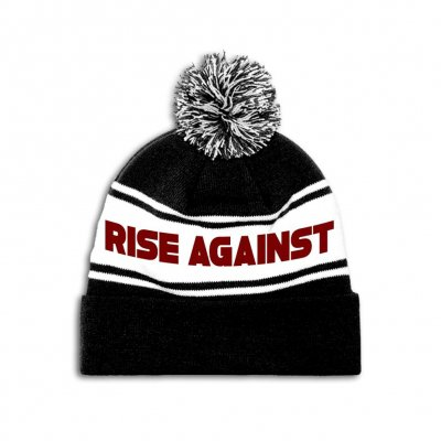 rise-against - Hometown Beanie (RED/WHITE/BLACK)