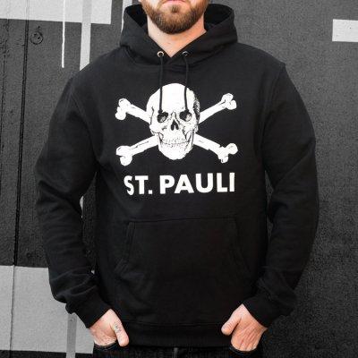 FC St Pauli - Skull Pullover Hoodie (Black)