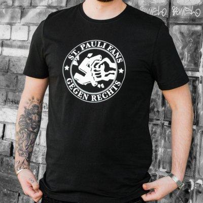 FC St Pauli - Fans Gegen Rechts T-Shirt (Black)