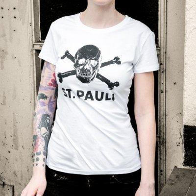 FC St Pauli - Skull Womens T-Shirt (White)