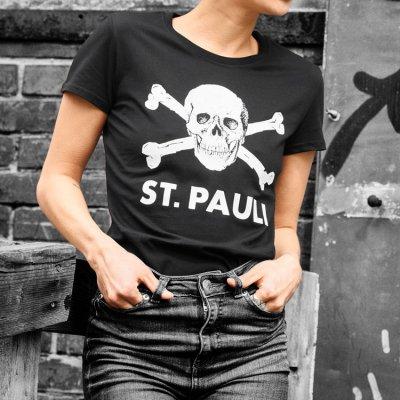 FC St Pauli - Skull Womens T-Shirt (Black)