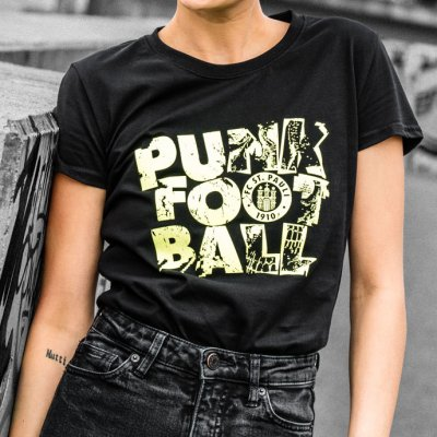 FC St Pauli - Punk Football Womens Tee (Black)
